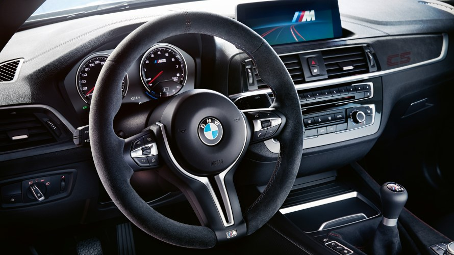 BMW M2 CS M Alcantara multifunction steering wheel