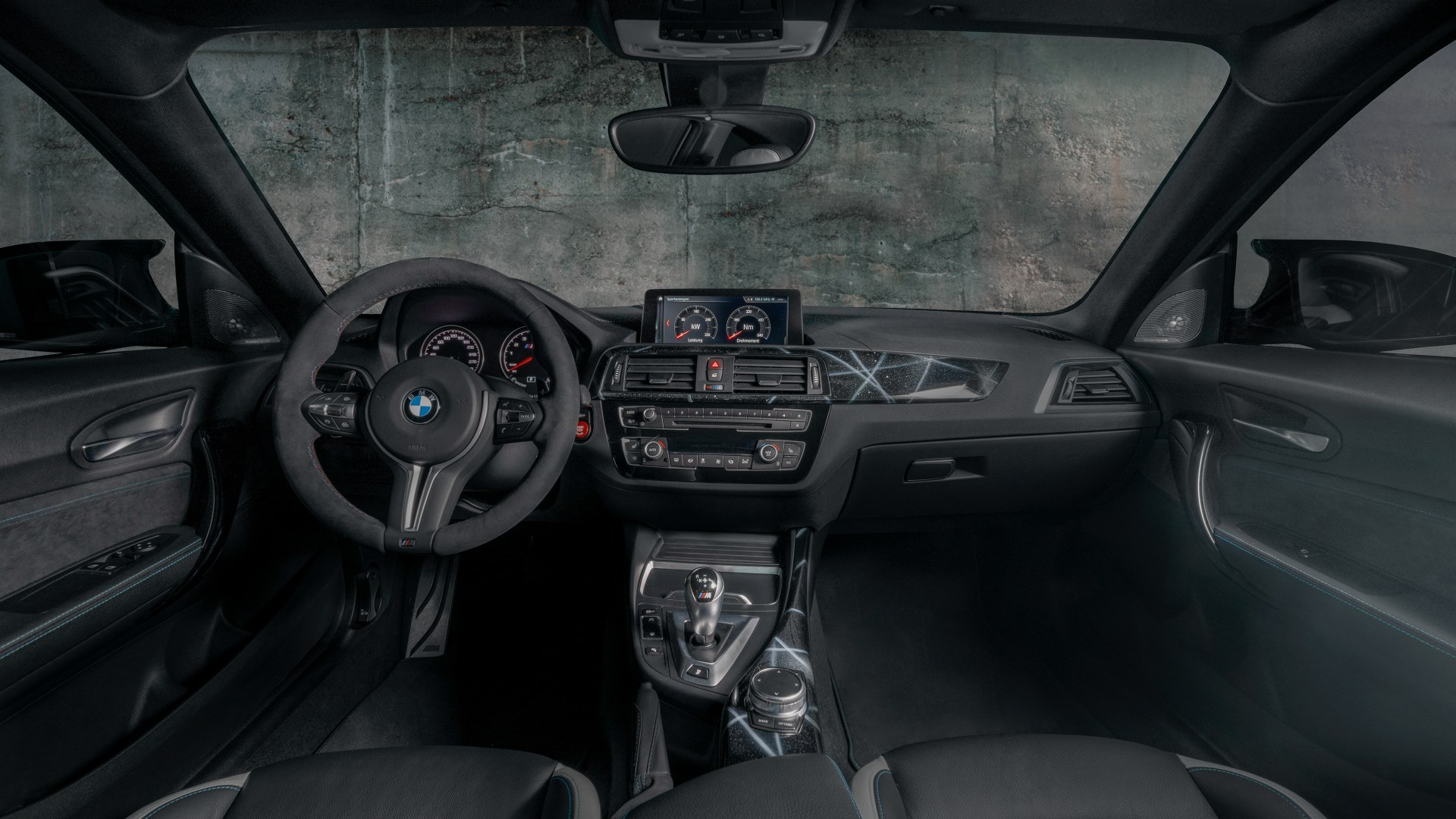 Cockpit and M sports steering wheel of the BMW M2 Edition designed by FUTURA 2000