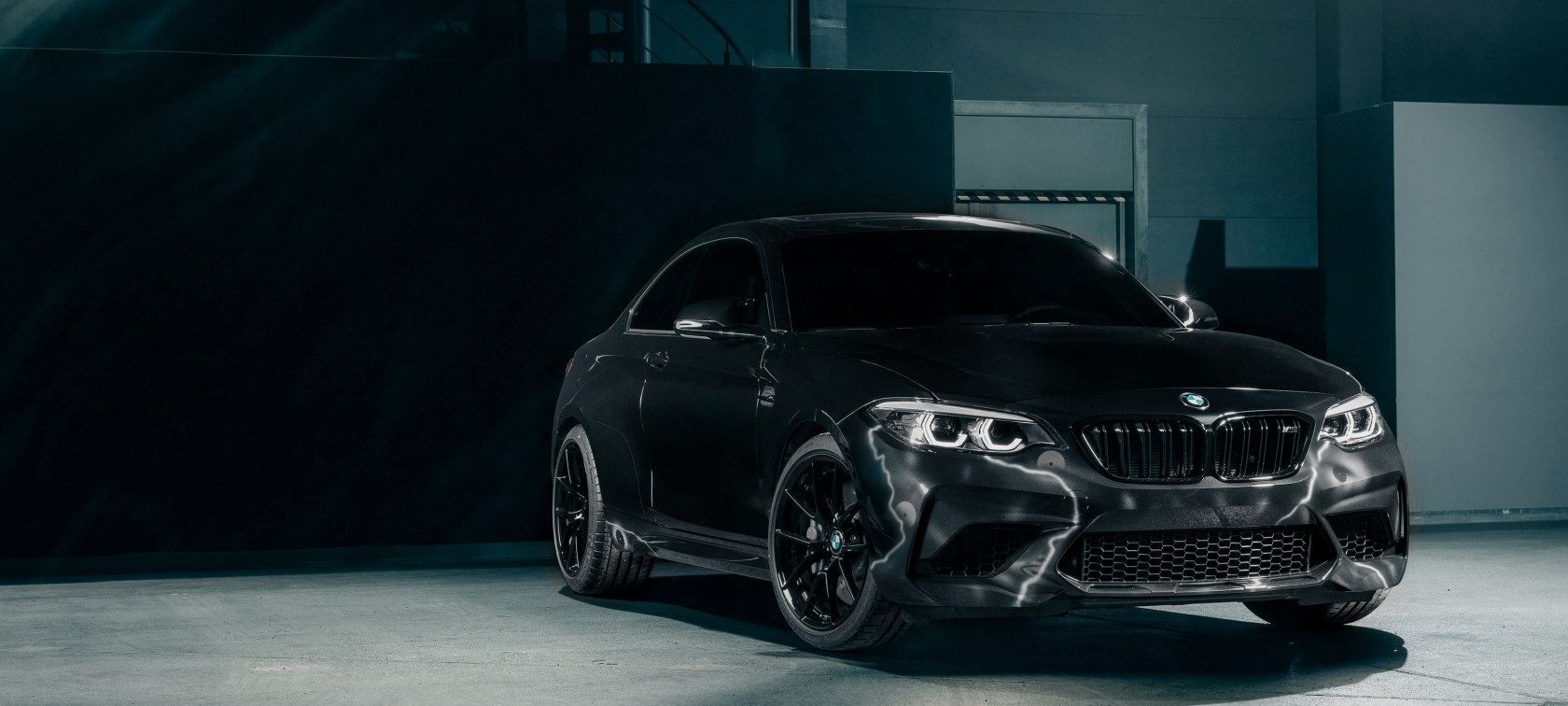 Front view of the BMW M2 Edition designed by FUTURA 2000