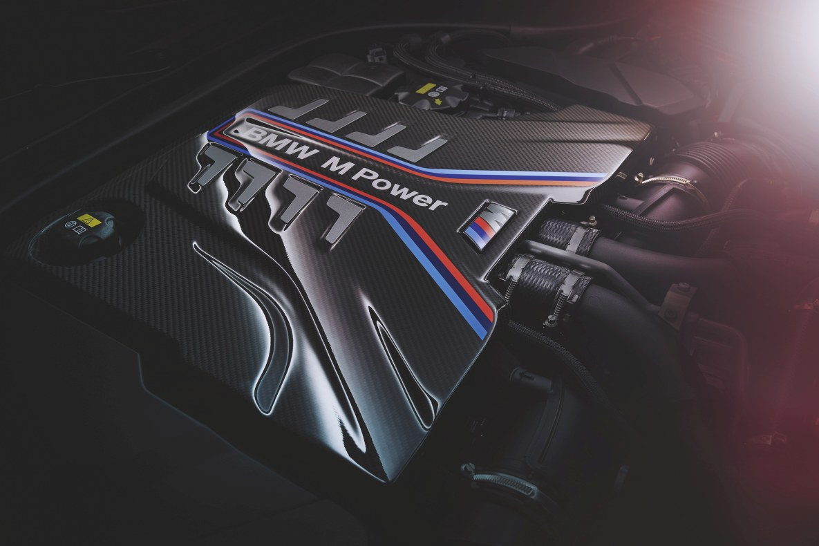 The engine of the BMW M8 Competition Convertible