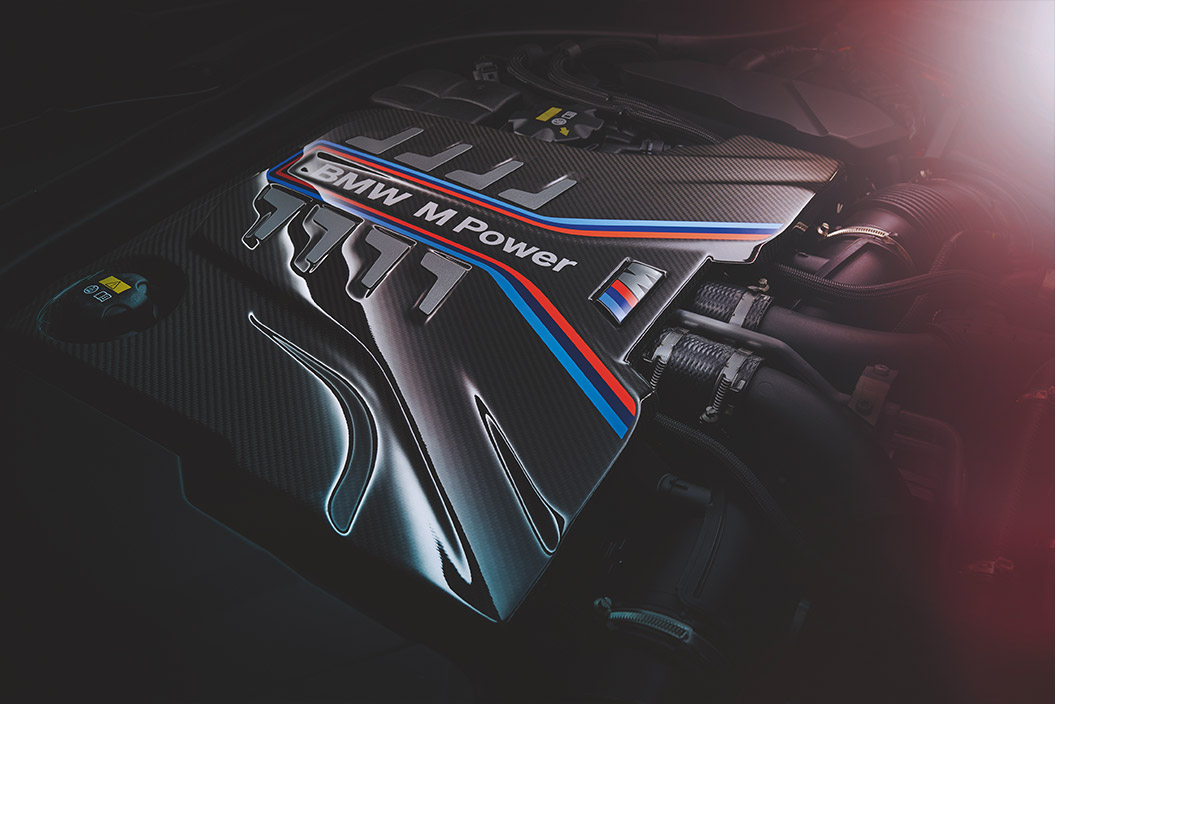 Engine of the BMW M8 Competition Convertible