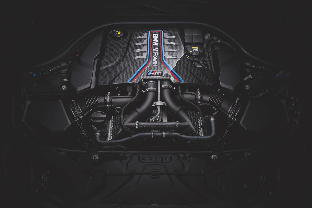 The engine of the BMW M8 Competition Coupé
