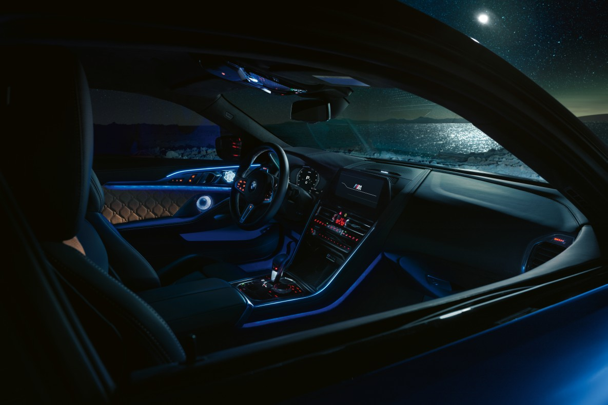 Interior of the BMW M8 Competition Coupé