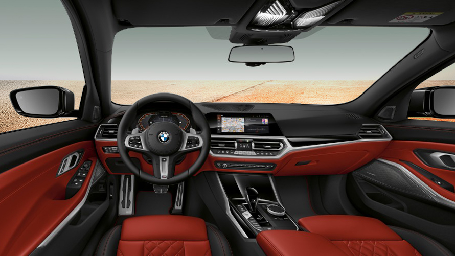 Cockpit of the BMW M340i xDrive Touring