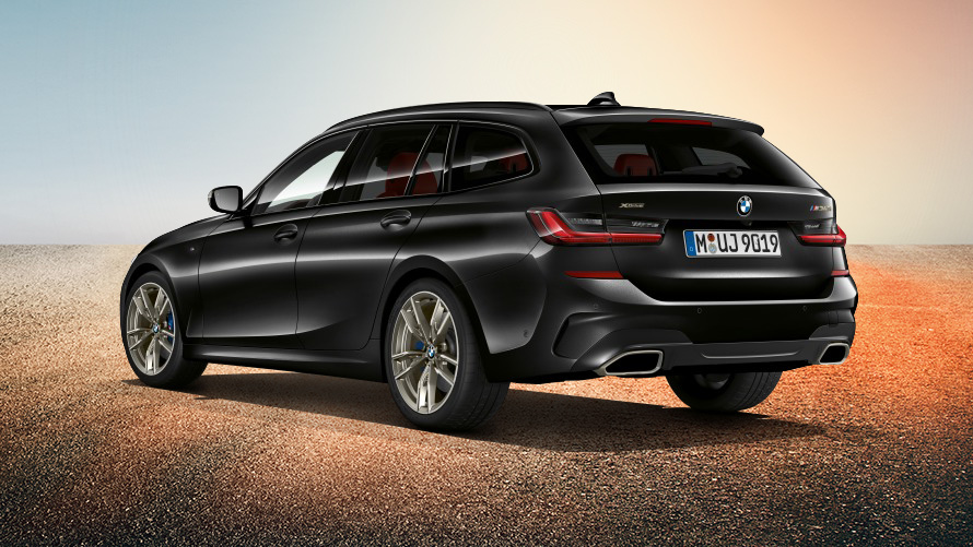 Rear view of the BMW M340i xDrive Touring