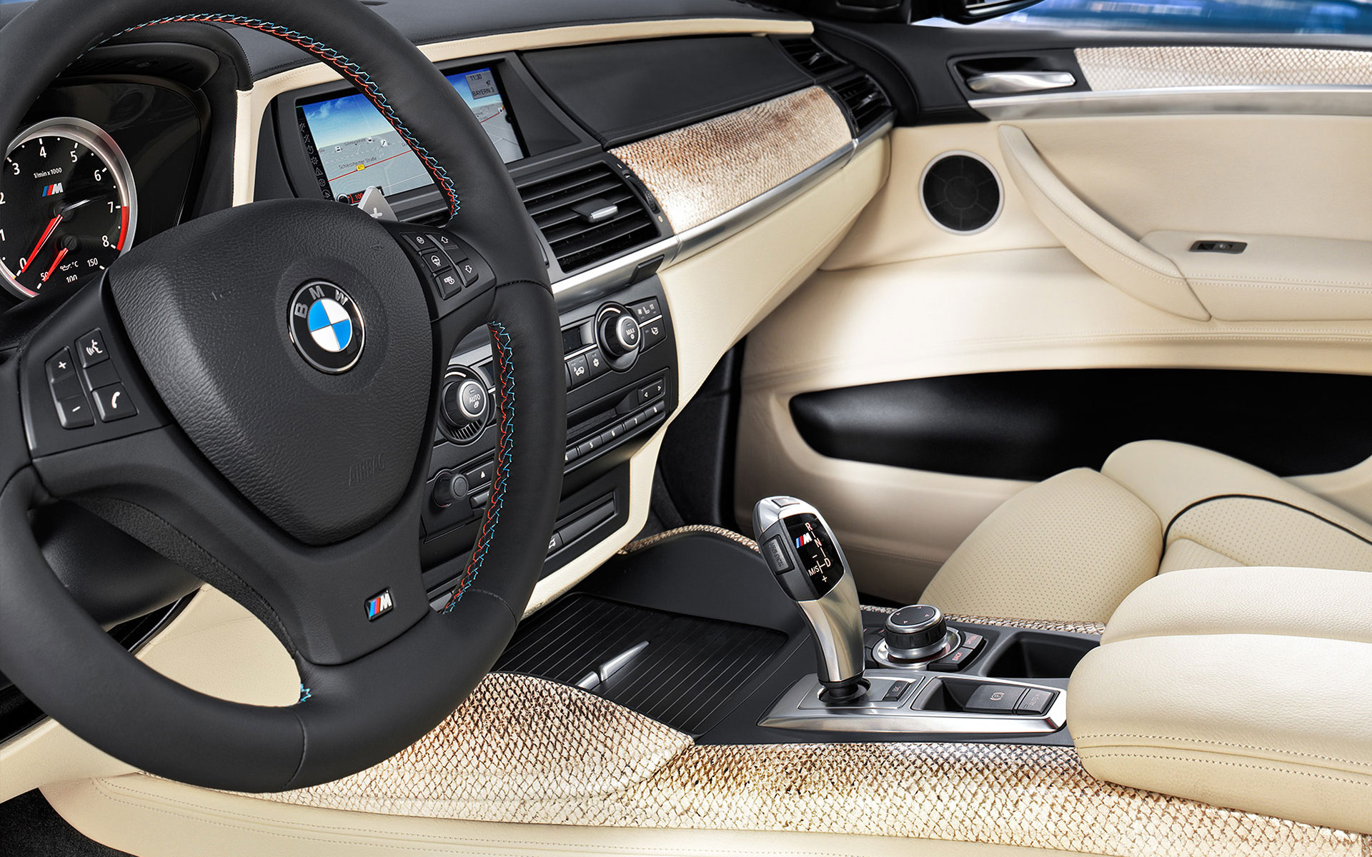 BMW Individual salmon leather interior trim
