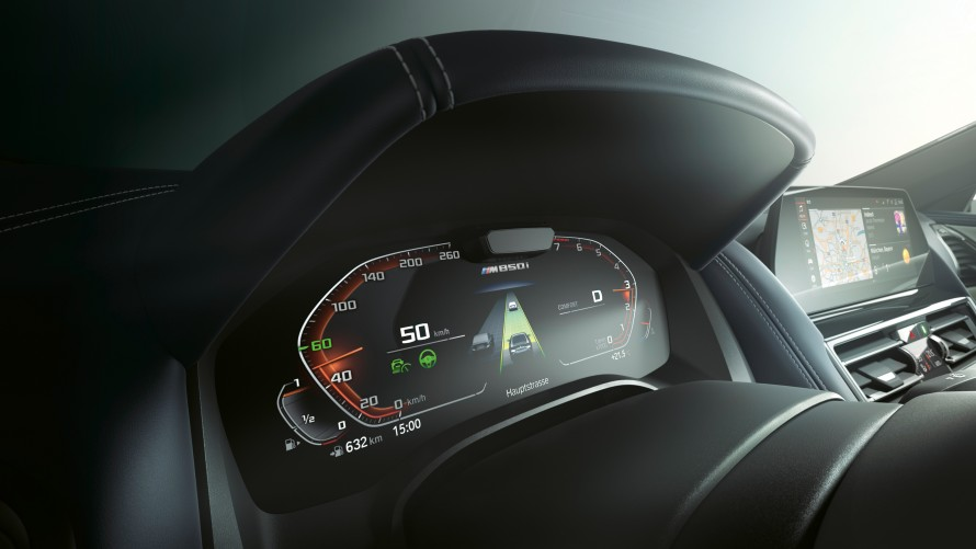 Digital instrument display of the BMW M850i xDrive Gran Coupé