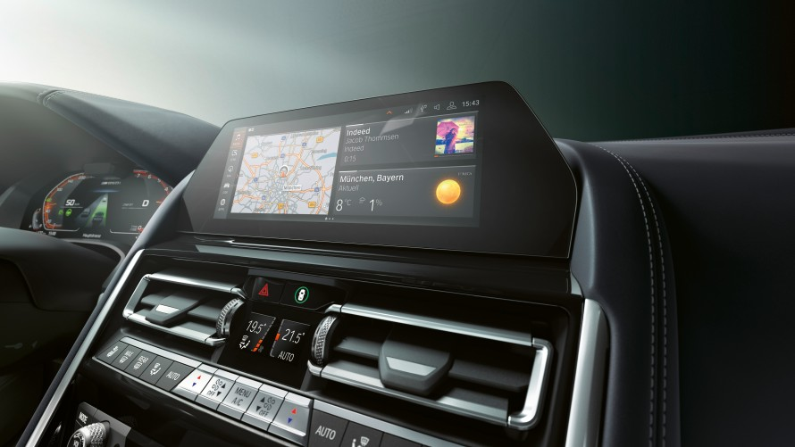 "High-resolution 10.25"" Control Display of the BMW M850i xDrive Gran Coupé"