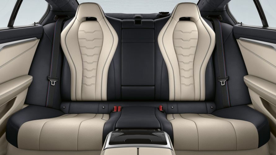 Rear seats of the BMW M850i xDrive Gran Coupé