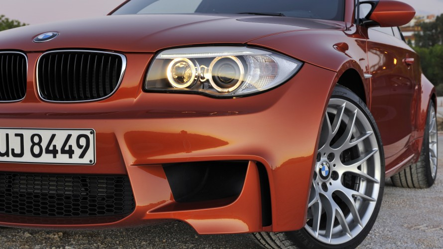 BMW 1 Series M Coupé front apron, air curtains and headlights