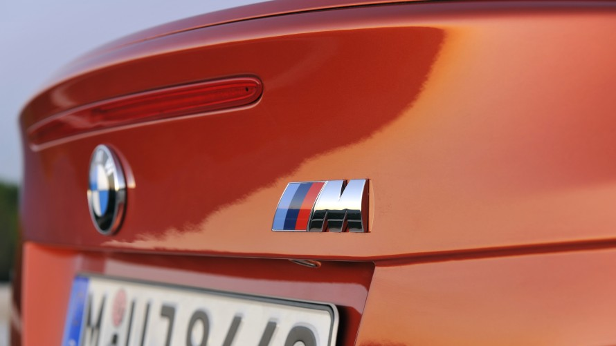BMW 1 Series M Coupé boot with BMW M logo