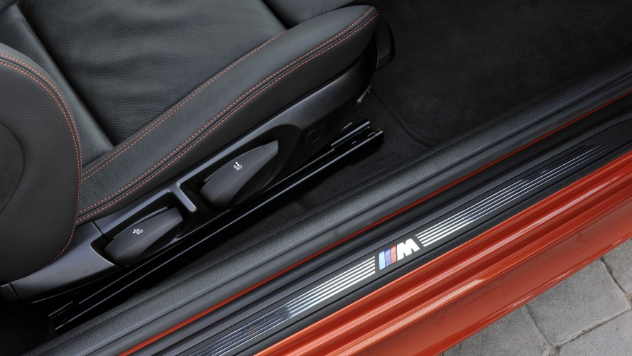 BMW 1 Series M Coupé entry sill with M logo