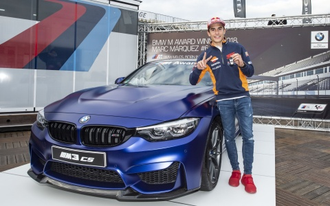 BMW M Award 2018 Gewinner Marc Márquez mit seinem BMW M3 CS in Frozen Dark Blue metallic