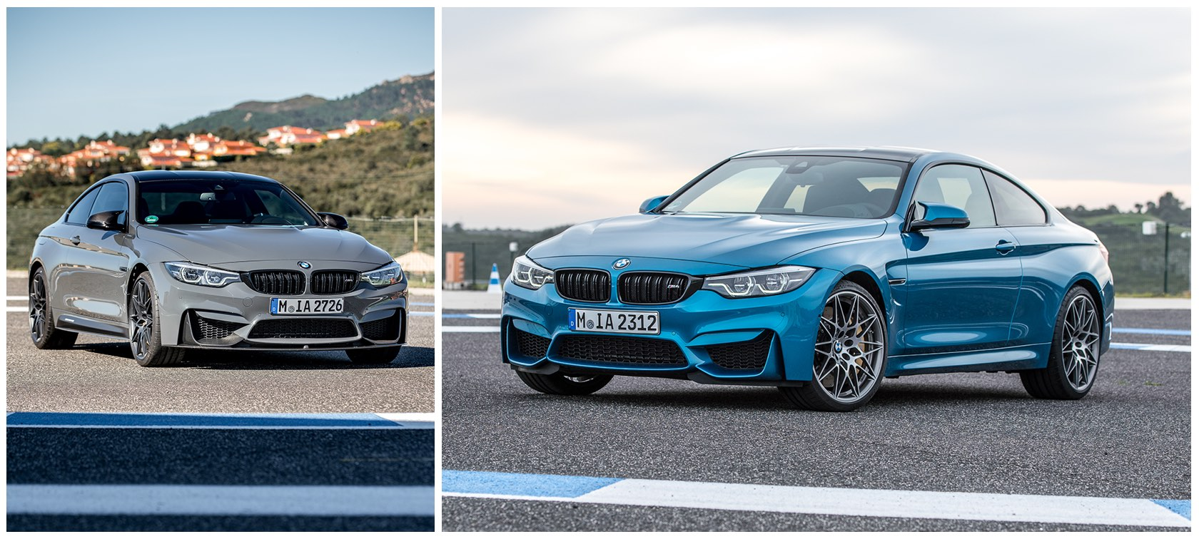 BMW M4 Long Beach Blue and Fashion Grey