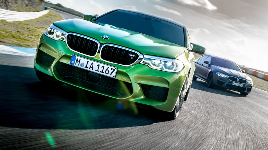 BMW M5 in Special Paint Java Green metallic