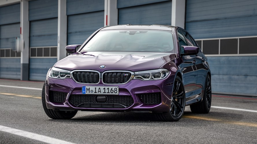 BMW M5 in Special Paint Purple Silk metallic
