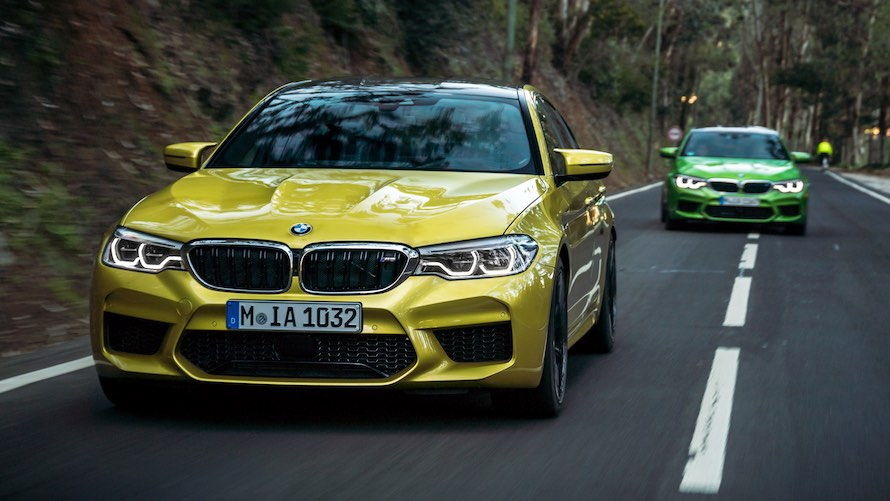 BMW M5 in Special Paint Austin Yellow metallic