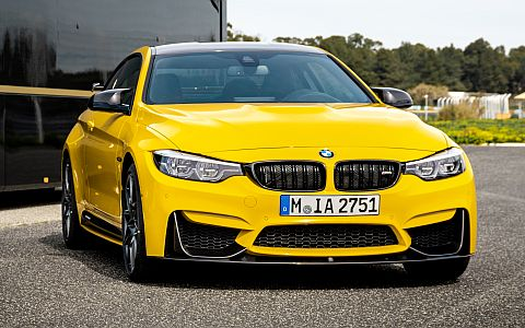 BMW M4 Coupé mit MPP in Speedgelb