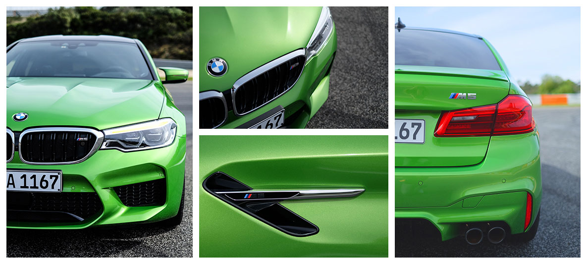 BMW M5 in BMW Individual Special Paint Java Green metallic