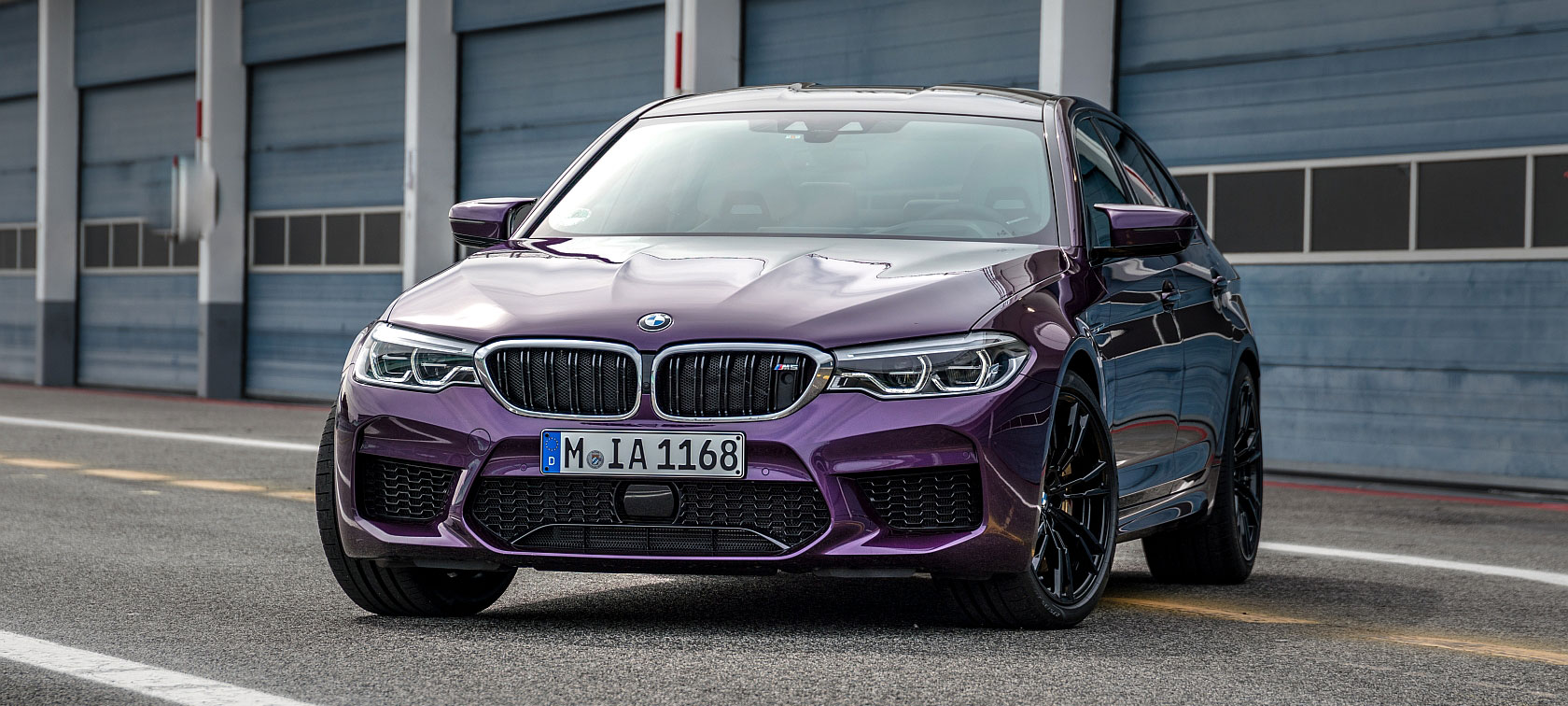 BMW M5 in Purple Silk metallic