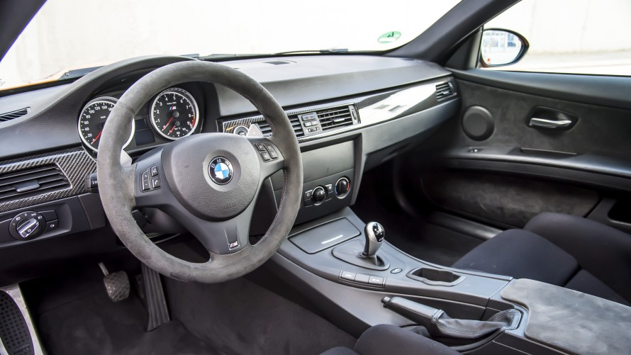 BMW M3 GTS Cockpit with M steering wheel and alcantara upholstery