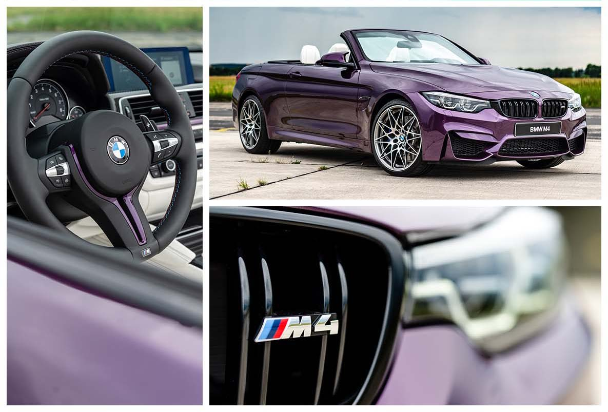 BMW M4 Cabrio in Special Paint Purple Silk