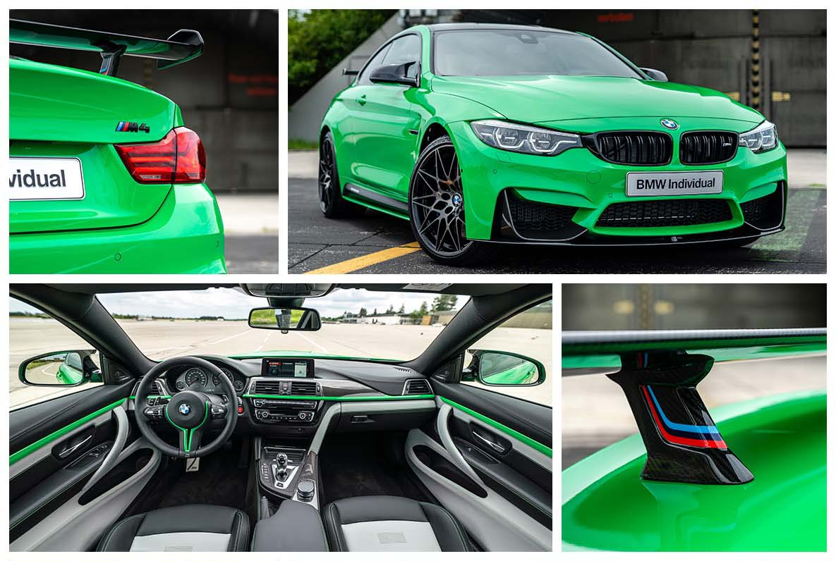 BMW M4 Coupé in Special Paint Signal Green