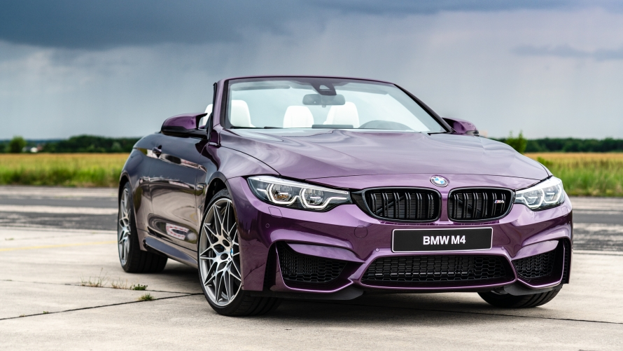 BMW M4 Cabrio in Purple Silk