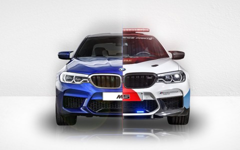 BMW M5 vs BMW M5 Safety Car