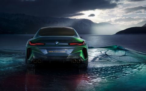 BMW Concept M8 hits the ice