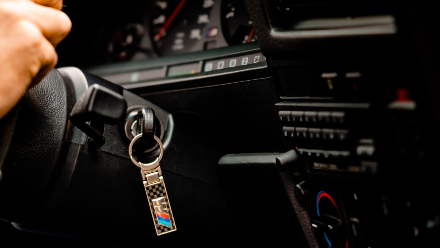 E30 BMW M3 Sport Evolution ignition key
