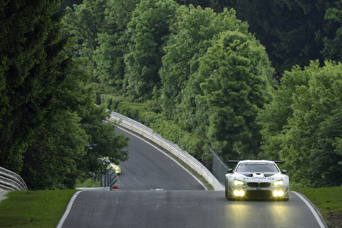 BMW M6 GT3 driving on Nürburgring Nordschleife