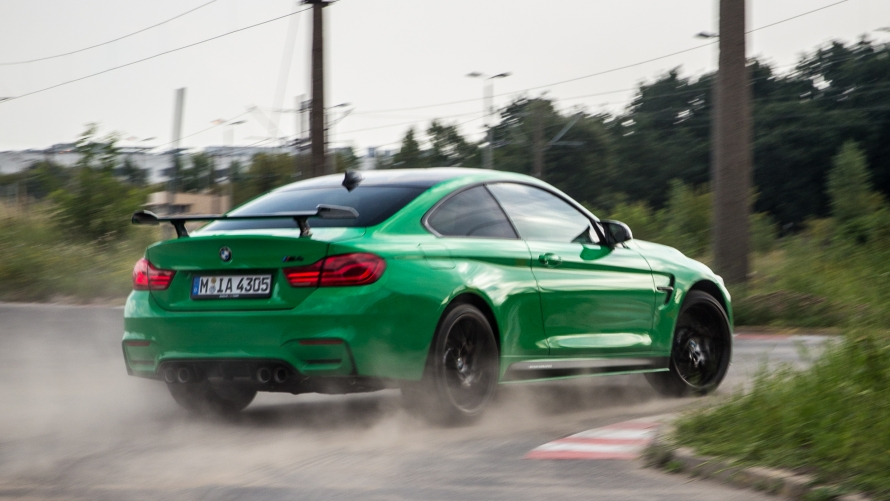 Asja Zupanc driving the BMW M4 with Competition Package in M TOWN