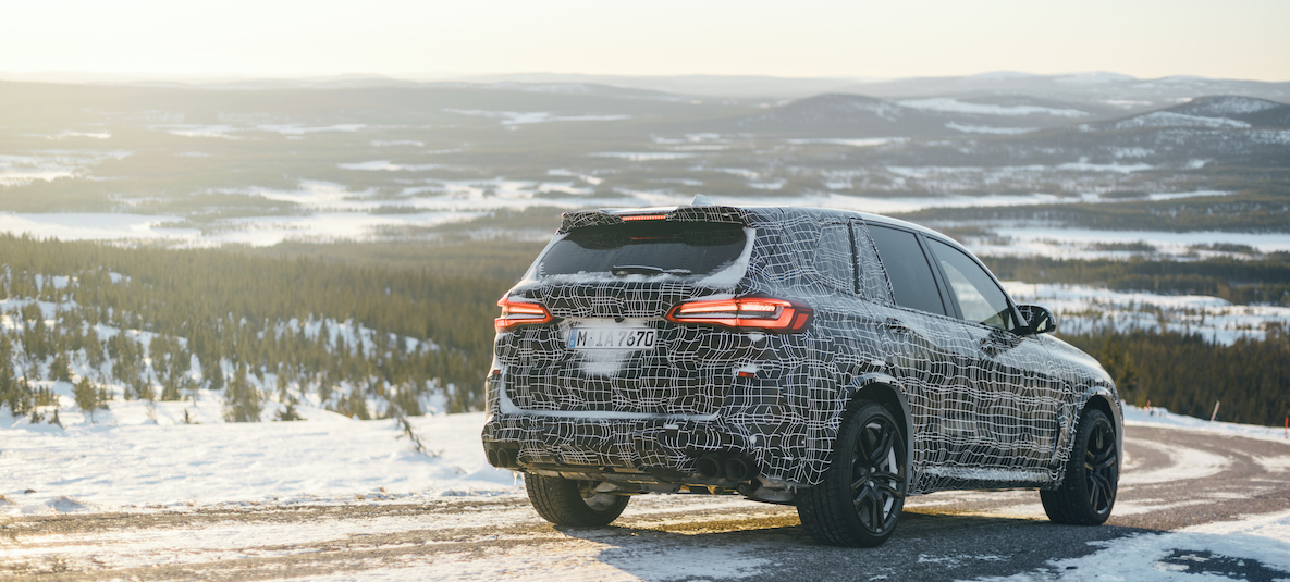 The BMW X5 M in wintery Swedish Lapland