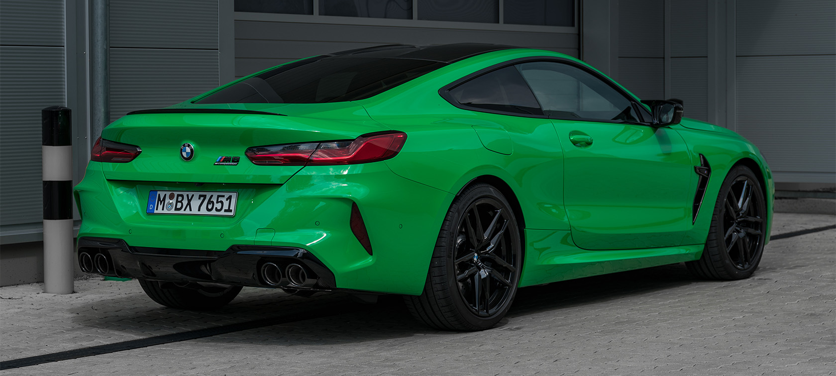 BMW M8 Competition in Individual Special paint finish Signal Green