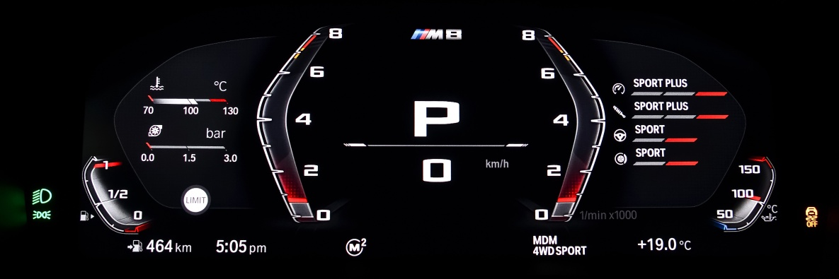 BMW M8 Control Display