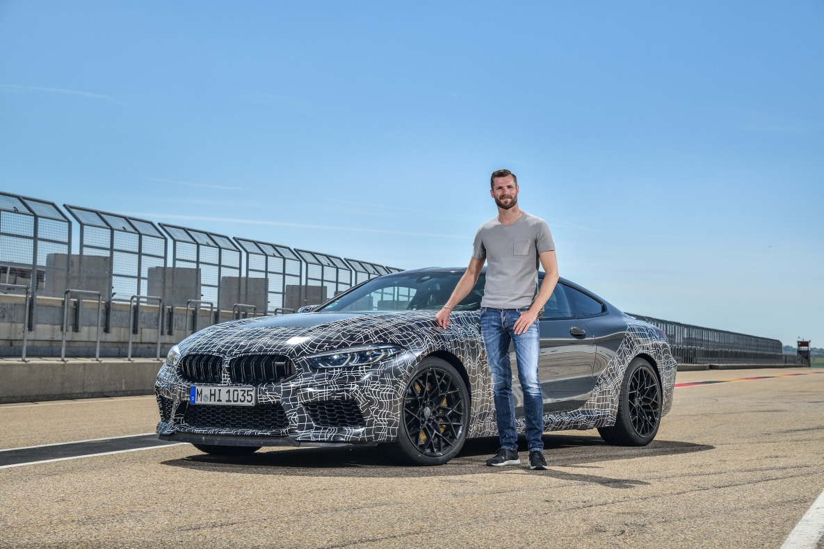 BMW Factory Driver Martin Tomczyk with the new BMW M8 Coupé