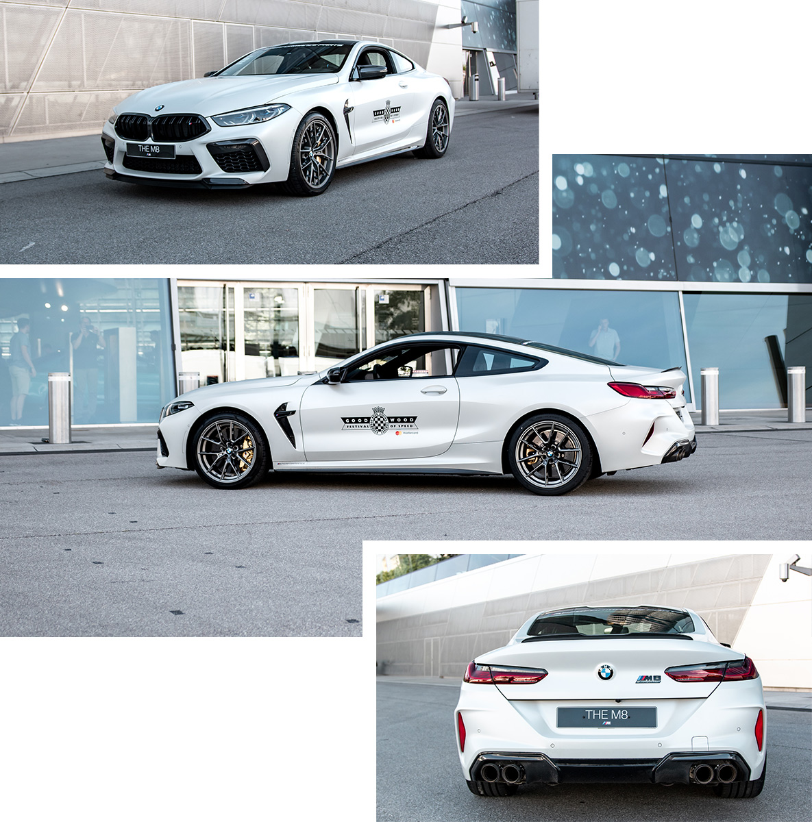 White BMW M8 Competition Coupé with M Performance Parts