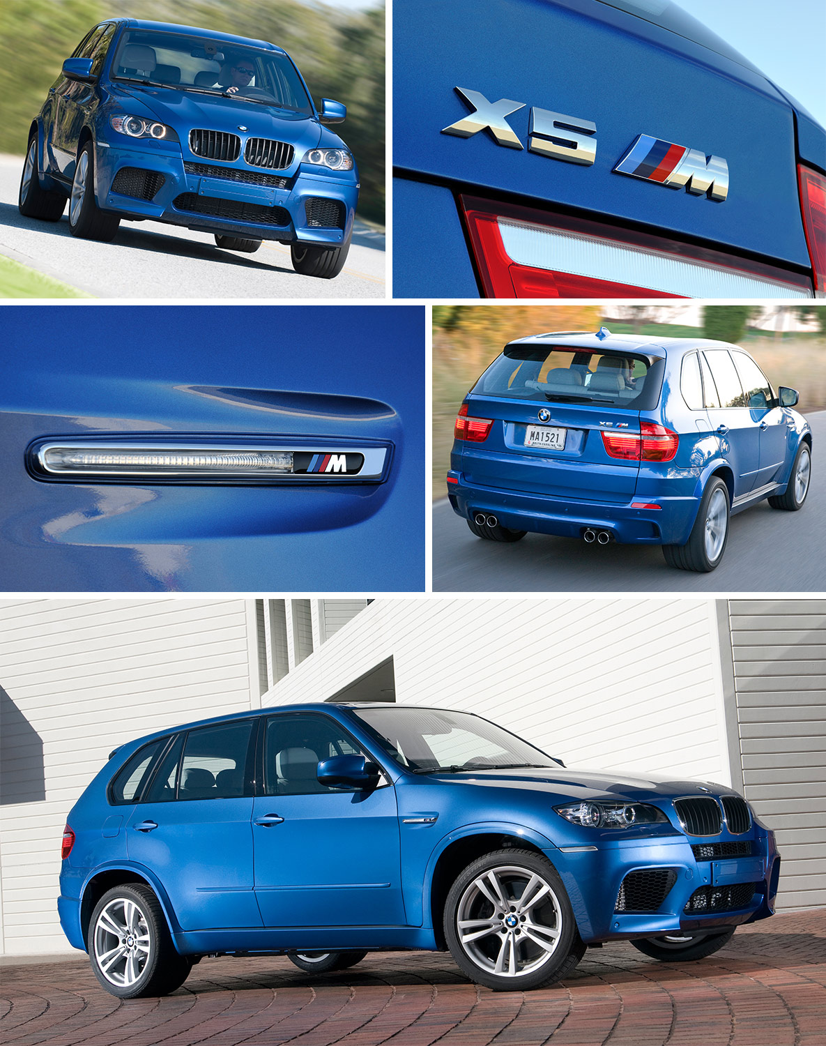 Blue BMW X5 M of the first generation (E70)