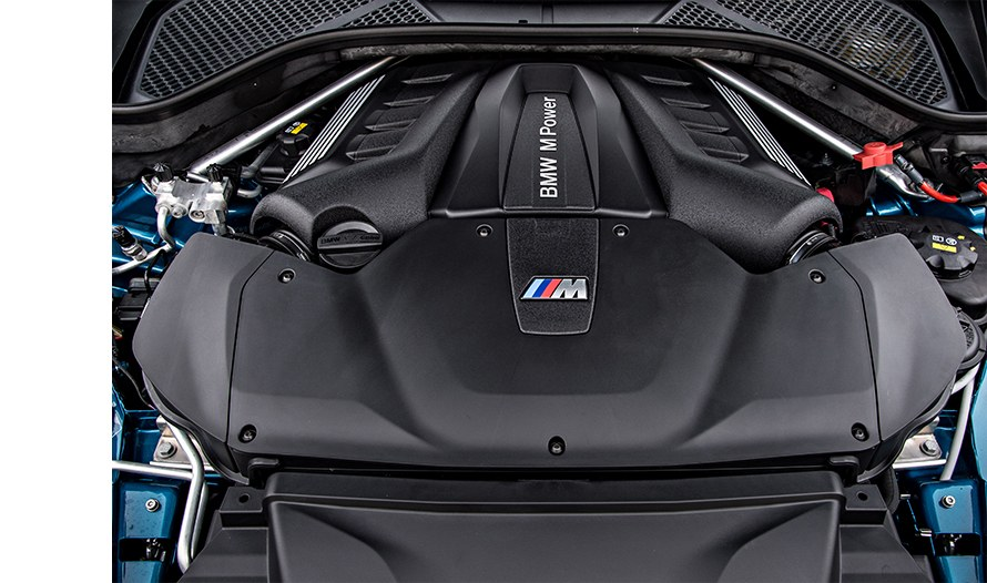 The engine of the BMW X5 M (F85)
