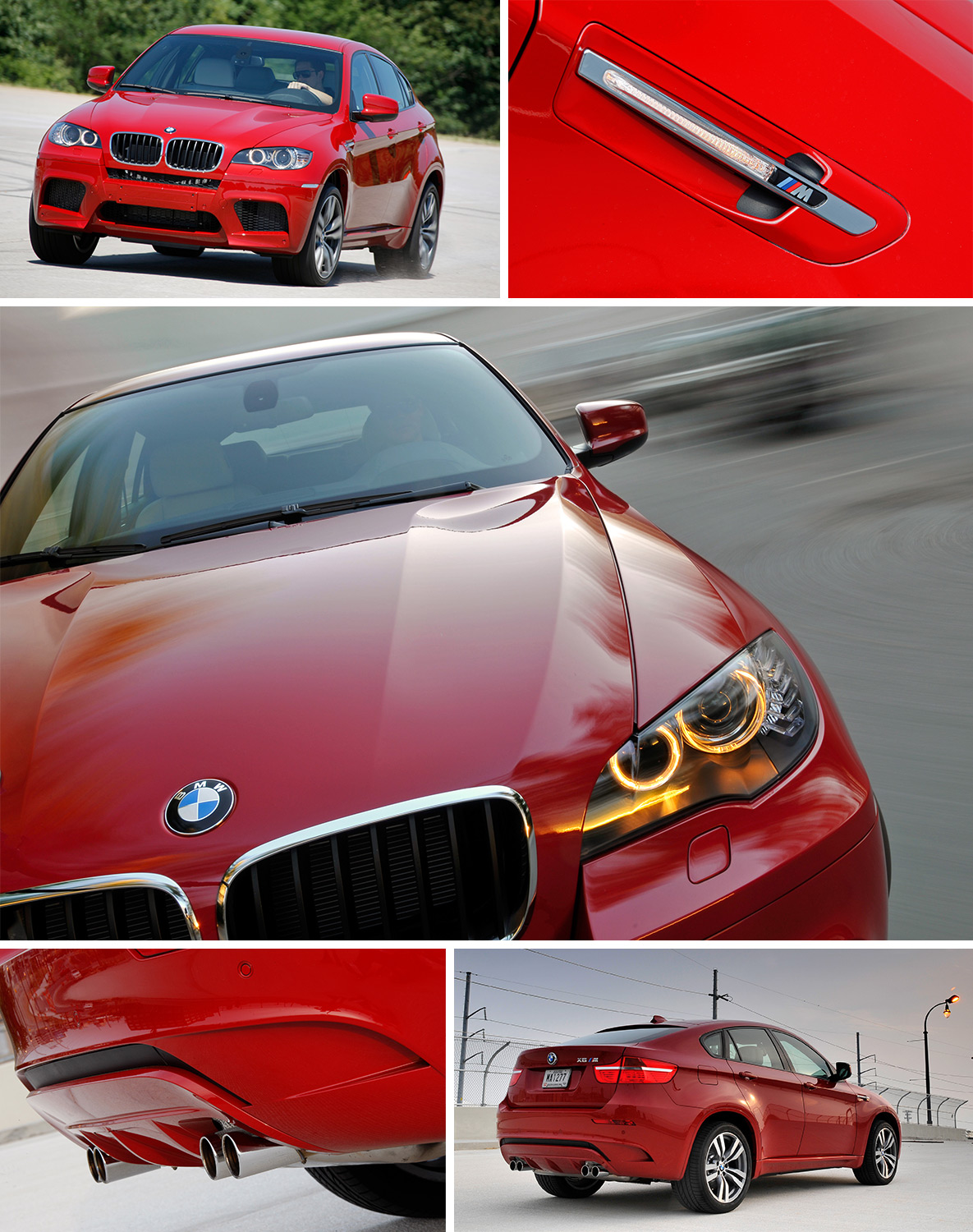 Red BMW X6 M of the first generation (E71)