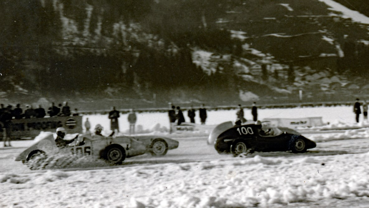 Historc picture of the 'International Motorcycle and Car Race' 1960, Zell am See
