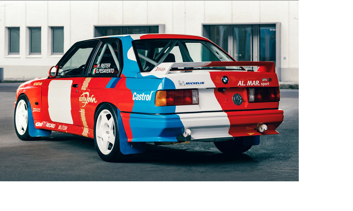 The BMW M3 E30 Rally car from BMW Classic for the GP Ice Race 2020