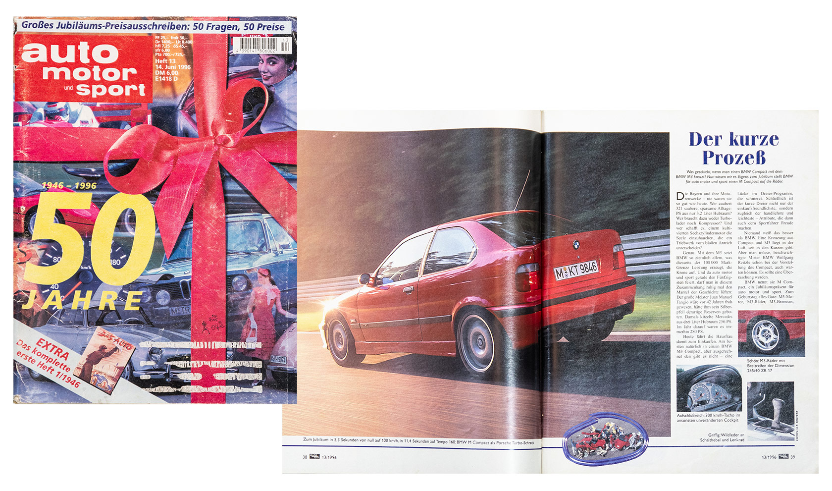 BMW M3 Compact in german auto motor sport 1996