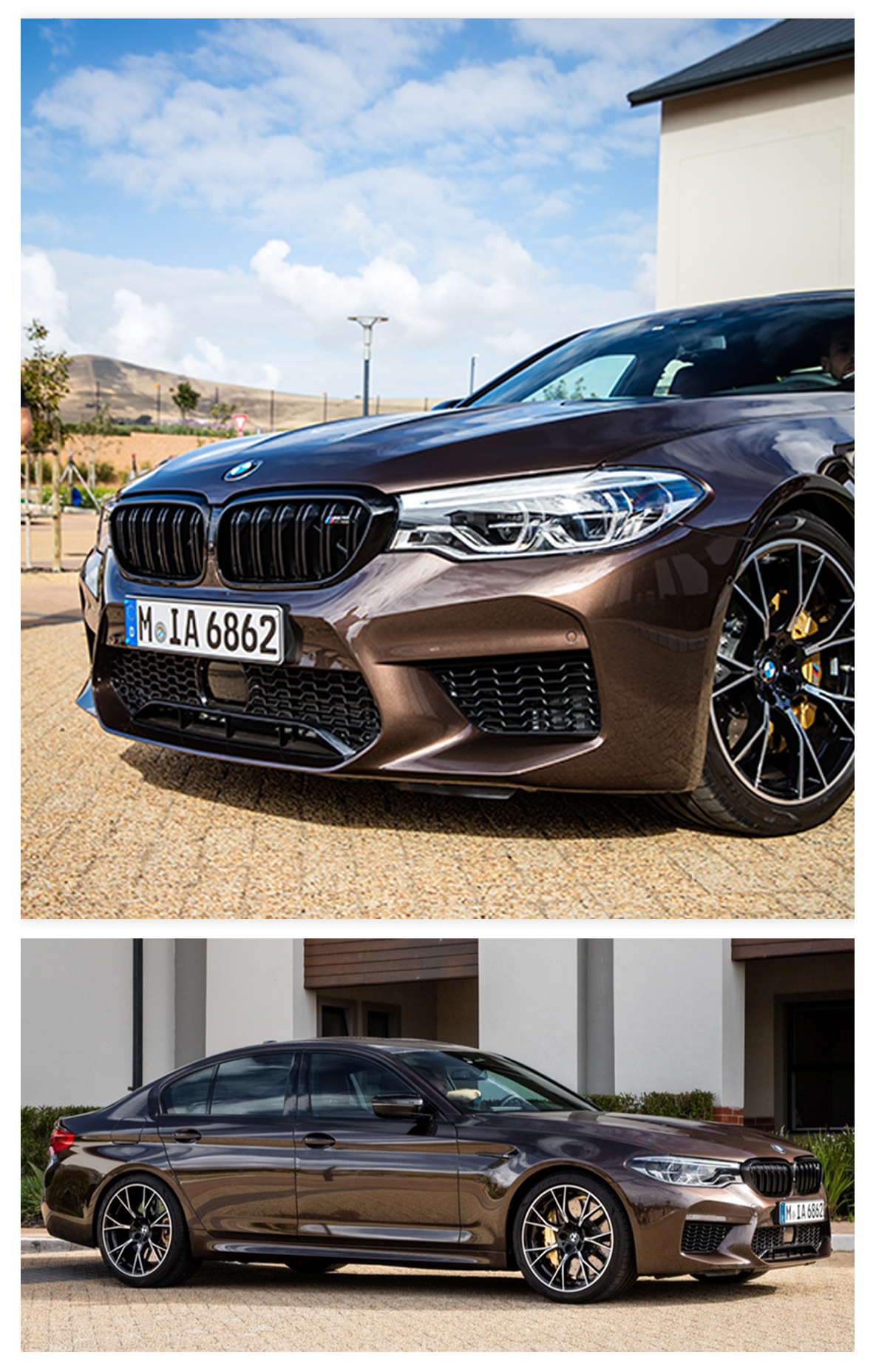 BMW M5 Competition in Macadamia metallic