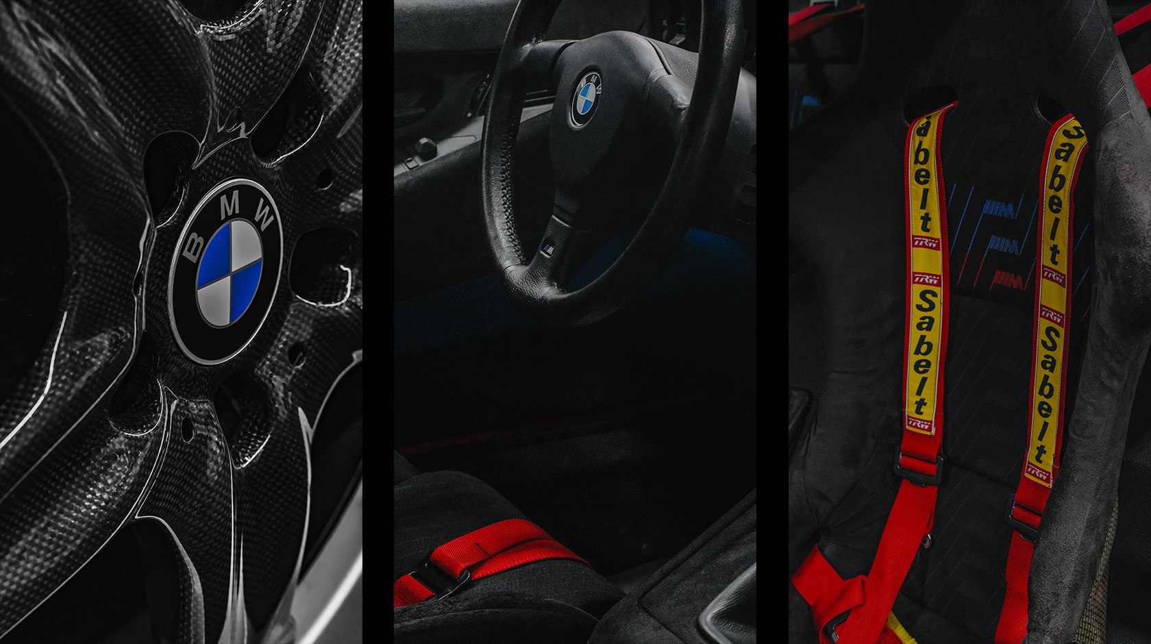 Details shots of the interior of the BMW M8 E31 Prototype