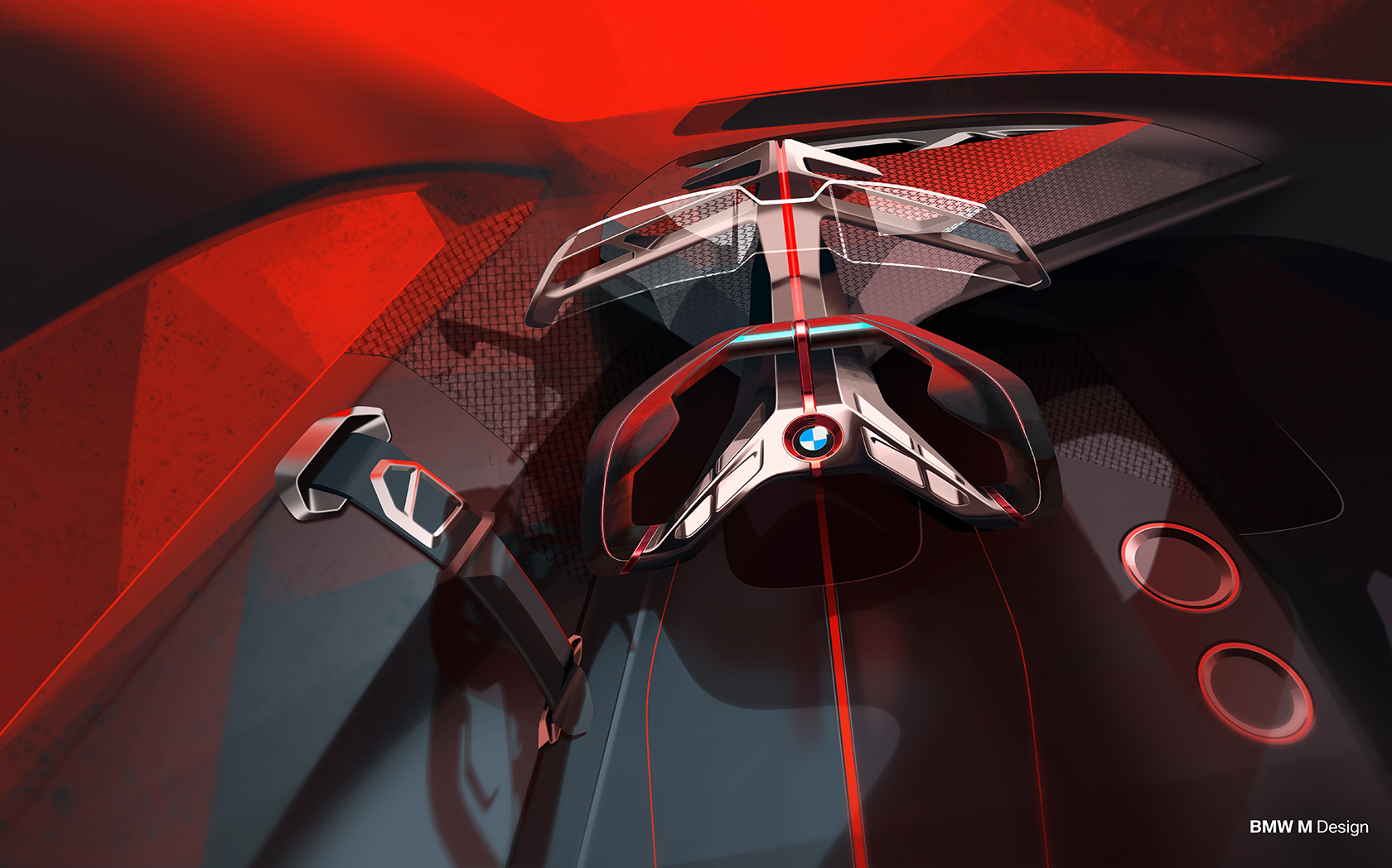 Cockpit Grafik des BMW Vision M NEXT