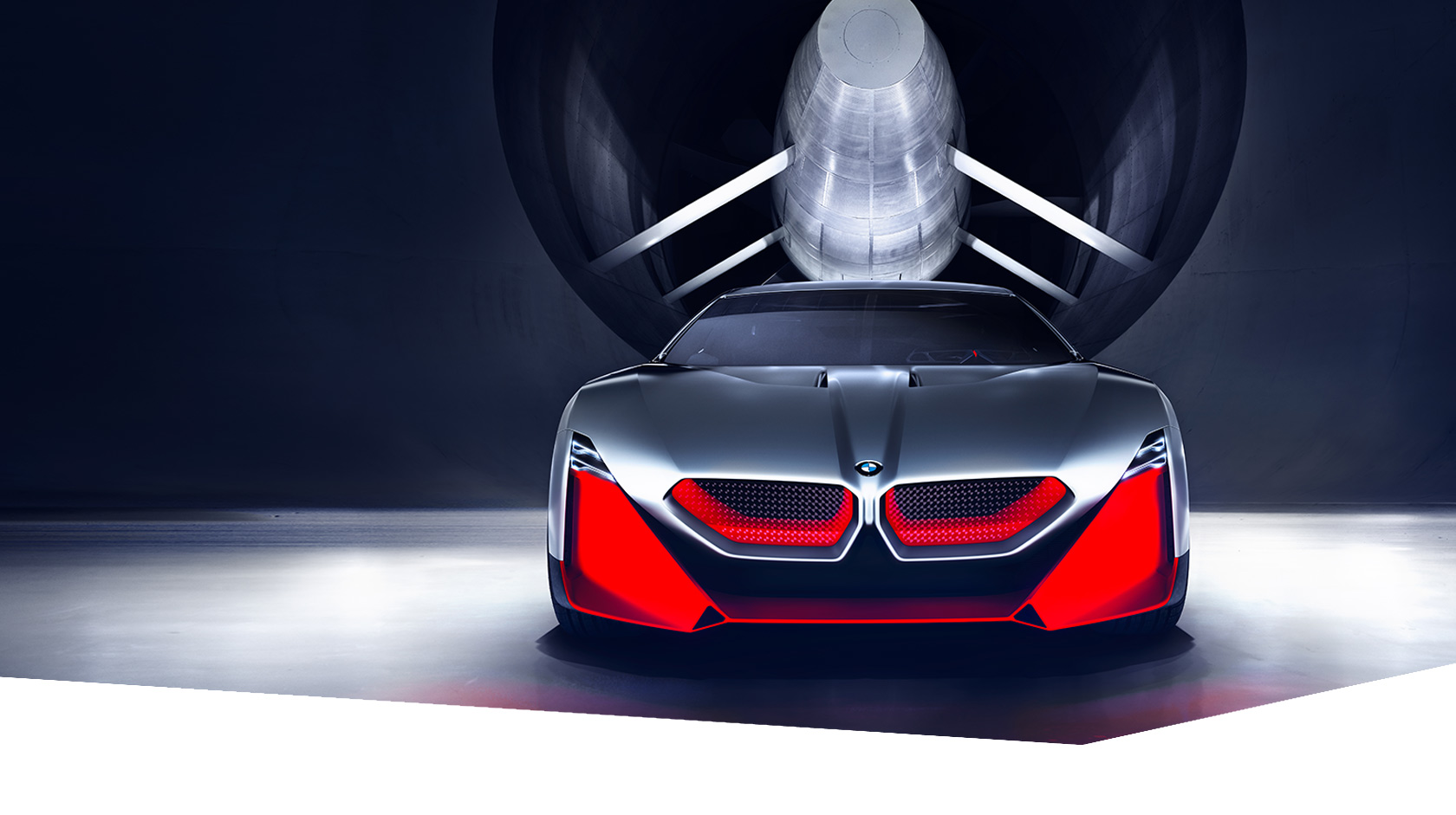 The BMW Vision M NEXT in the wind tunnel