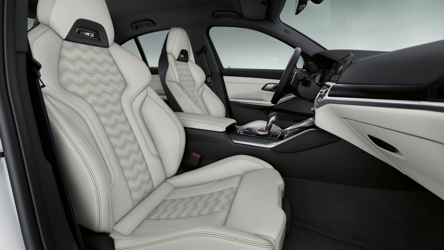 BMW Individual Merino full leather trim with extended features in Ivory White