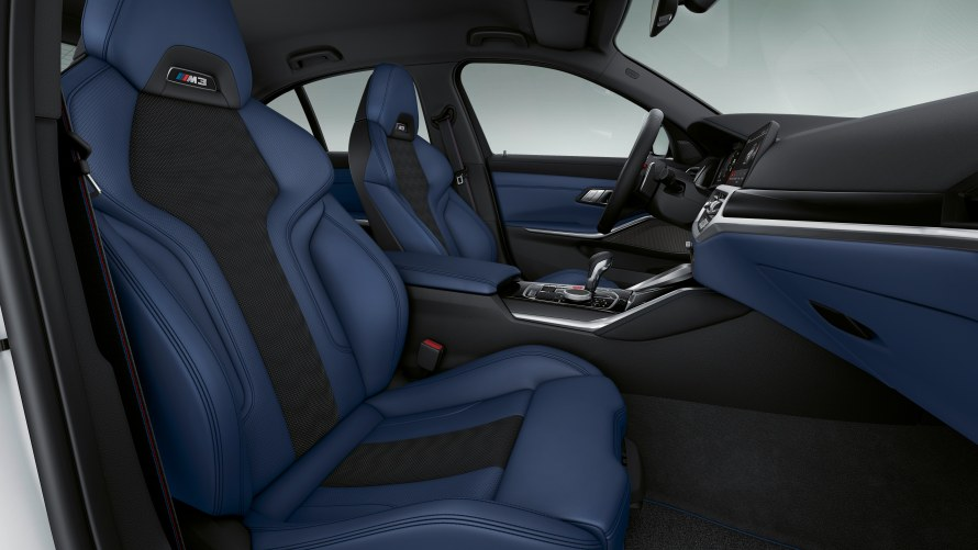 BMW Individual Merino full leather trim with extended features in Fjord Blue/Black